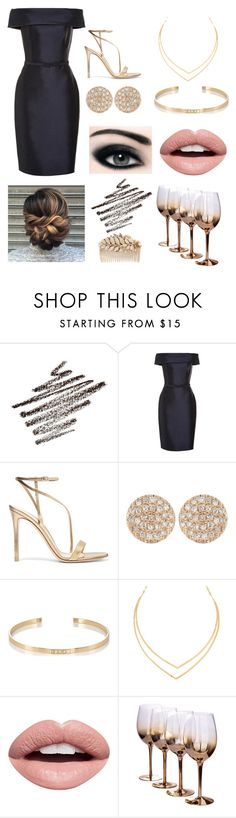 """Formal black dress"" by vidonni84 ❤ liked on Polyvore featuring Gianvito Rossi, Dana Rebecca Designs, Ileana Makri, Lana, Max Factor, Nevermind and Miriam Haskell"