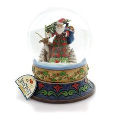 Jim Shore Season Of Giving Waterball Snow Globe / Water Globe
