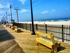 Stroll down the boardwalk in Seaside Heights and take in the beautiful Jersey…
