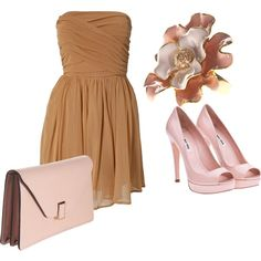 Pink and Brown, created by bombaloo on Polyvore
