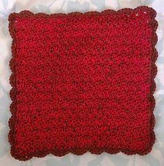 Washcloth or Dishcloth-Size 3 Thread | AllFreeCrochet.com