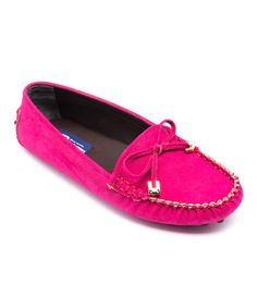 Take a look at this Hot Pink Metallic Loafer on zulily today!