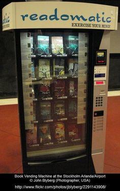 ebookfriendly:  Book vending machine at the Stockholm Arlanda airport