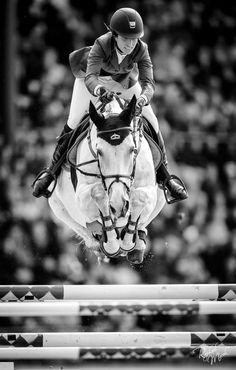 Janika Sprunger at the 2013 CHIO Aachen event for Switzerland #flying #riding #horse