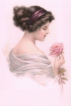 Risultati immagini per vintage women postcards illustrations