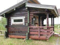 Tervattu sauna ulkoa kuvattuna