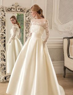 Wedding gown lace vintage bridal collection 51 Ideas for 2019 Wedding Dress Sleeves, Long Sleeve Wedding, Dream Wedding Dresses, Wedding Gowns, Lace Dress, Gorgeous Wedding Dress, Lace Sleeves, Dress Long, Perfect Wedding