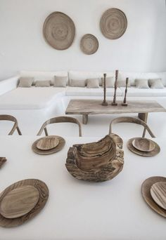 """Architectural office Omniview Design has completed the renovation of Villa Kampani, one of the most historic properties of downtown Mykonos. Built in the it was the house of the Mayor of Mykonos, after whom Akti Kampani (also known as """"Gialos"""") was named. Interior Architecture, Interior And Exterior, Greek Decor, Myconos, Neoclassical Interior, Deco Studio, Home Design, Interior Decorating, Interior Design"""