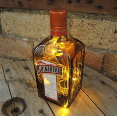 Upcycled Cointreau Bottle Lamp by ReUpCycled £89