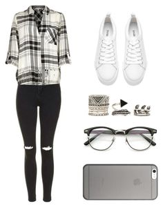 """""""Untitled #205"""" by deborasilva02 ❤ liked on Polyvore featuring Topshop, River Island, Forever 21 and Native Union"""