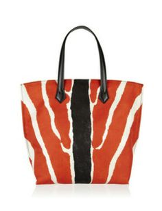 FENDI All In Medium Zebra Print Nylon Tote