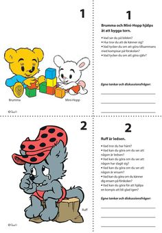7 Situationsbilder för nedladdning – Bamse.se Teacher Education, School Teacher, Pre School, Social Activities, Preschool Activities, Learn Swedish, Feelings And Emotions, Kids Corner, Working With Children
