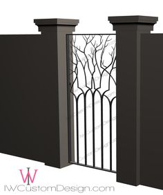 This #tree #twig #garden walk #gate would be fabulous in a chocolate rustic texture, but it would also look great nickel plated in an interior of a #contemporary home!  If you love my design and simply can't live without it, I'd be happy to to build it for you in any size, texture, and color you require.  Hope to chat with you soon. Izabela