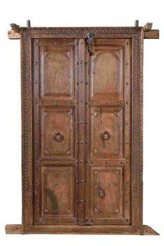 Old Wooden Doors, Rustic Doors, Old Doors, Front Doors, Unique Wall Decor, Rustic Wall Decor, Bali Decor, Indian Doors, Wooden Main Door Design