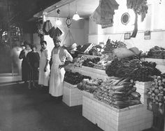 """""""Photograph of a Modern Fruit and Vegetable Stand in Center Market."""" Date: October 1922 Stock Photo Sites, Free Stock Photos, Old Time Photos, Vegetable Stand, Still Picture, Photo Maps, Beautiful Sites, Documentary Photography, Fruits And Vegetables"""