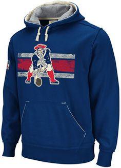 Patriots Throwback Vintage Pullover Hood-Navy Vikings Football 7d24db23f