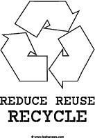 Recycle poster with slogan environmental slogans for Recycle stencil printable