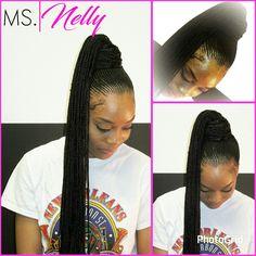 Nicki Minaj inspired ponytail