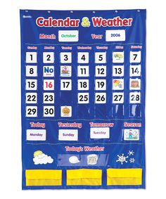 Look at this Learning Resources Calendar & Weather Pocket Chart on #zulily…