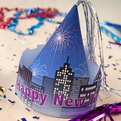 NYE printable hat. Free.