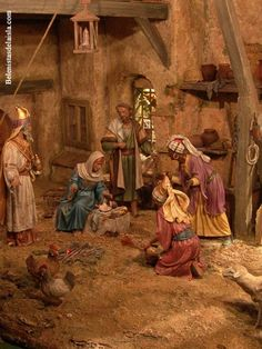 belenistas de la Isla. Fotos Christmas Nativity Set, Christmas Villages, Christmas Ideas, Nativity Stable, O Holy Night, Miniature Rooms, Stage Decorations, Bible Stories, Painting & Drawing