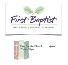 First Baptist Church at The Villages, FL :: Before & after Place Cards, Logo Design, Place Card Holders