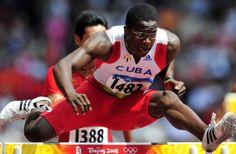 Dayron Robles, winnaar gouden medaille hordenlopen