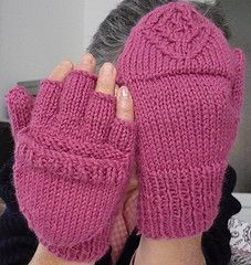 Free knitting pattern for convertible fliptop mittens for texting, touchscreen, etc. and more electronic devices knitting patterns