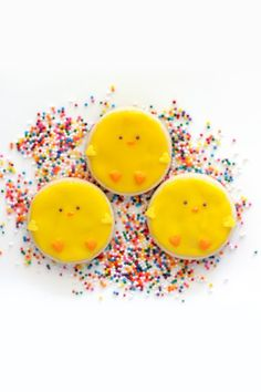 Happy Easter! When I think of Easter, I always picture little yellow chicks and pastel bunnies hopping around a green field with candy eggs ...