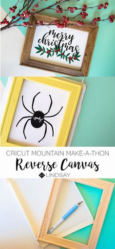 Create the perfect holiday Cricut reverse canvas. Use your iron or your EasyPress to make the best holiday reverse canvas. Paper Folding Crafts, Diy Paper, Paper Crafts, Creative Crafts, Fun Crafts, Cricut Tutorials, Cricut Ideas, Quick And Easy Crafts, Easy Craft Projects