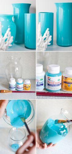 DIY colored vases