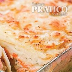 Gratin de saumon - Recettes - Cuisine et nutrition - Pratico Pratique Seafood Dishes, Fish And Seafood, What To Cook, Safe Food, Salmon, Food Porn, Dinner Recipes, Cooking, Ethnic Recipes