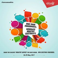 #contest #contestalert #awesomeadvise #contest Contest begins from tomorrow.  We Indian love of give advices to all. Share with us such crazy health advise you have every received and win exciting gifts.   5 craziest advices will win Book My Show Gift Voucher of Rs. 500/- each.  Participate in three simple steps.  1. DOWNLOAD ELIVIO APP 2. Like our Page 3. Comment your answers with hashtag #awesomeadvice