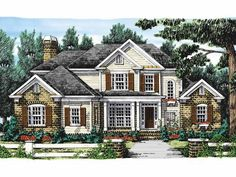 Eplans New American House Plan - Appealing Open Floor Plan - 2858 Square Feet and 5 Bedrooms from Eplans - House Plan Code HWEPL09491
