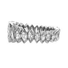 Platinum 3 Carat Diamond Marquise Eternity Band For Sale at Sapphire And Diamond Band, 3 Carat Diamond, Eternity Ring Diamond, Marquise Diamond, Diamond Stone, Eternity Bands, Diamond Cuts, Diamond Clarity, Modern Wedding Rings
