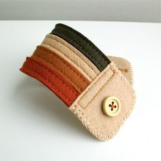 Wool Felt Bracelet Wristband Cuff // Autumn // LoftFullOfGoodies. $16.00, via Etsy.