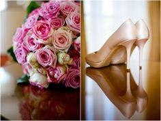 Rosa Brautstrauß Rosen romantisch wedding Bouquet Hochzeitsorganisation www.prime-moments.com