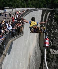EUROPE:  DESTINATION SWITZERLAND. Bungee Jump Like James Bond in Switzerland - Live like James Bond for a day and bungee jump off Switzerland's infamous Verzasca Dam, just like 007 did in the opening sequence of Goldeneye... Check it out here… http://www.backtobuckley.com/travel-blog-bungee-jump-like-james-bond-in-switzerland/
