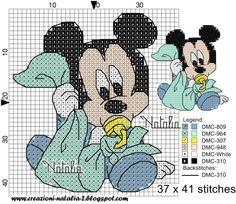 Disney Cross Stitch Patterns, Cross Stitch For Kids, Cross Stitch Baby, Cross Stitch Kits, Cross Stitch Charts, Cross Stitch Designs, Disney Stitch, Miki Mouse, Crochet Cross