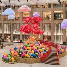 Be amazed by these 185 sheep in 8 vibrant colours grazing under multi-coloured clouds at Landmark, Central! Let them put a smile on your face and welcome a vibrant Chinese New Year! #allabouthongkong #hongkong #hk