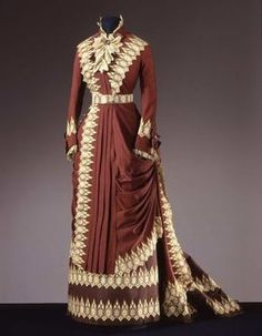 Worth Day Dress, 1880, via Fripperies and Fobs