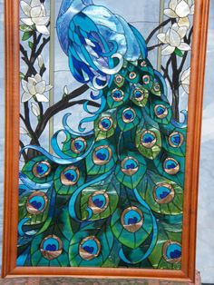 102 Best Stain Glass Birds Peacocks Images Stained Glass Windows