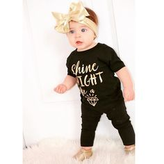 """Isn't she precious! We just love this little cutie in our """"Shine Bright Like a Diamond"""" tee!  #babytruthbabes"""