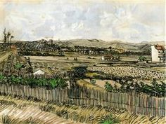 Harvest in Provence, at the Left Montmajour - Vincent van Gogh