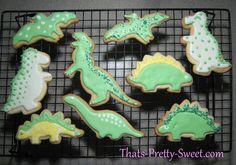 Dinosaur cookies.