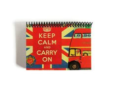 London Keep Calm and Carry On  Spiral Notebook 4 x 6 by Ciaffi, $12.50