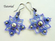 VENETIAN LACE beaded earrings beading tutorials por PeyoteBeadArt