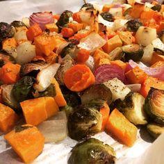 Honey Mustard Glazed Roasted Vegetables