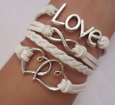 love  bracelet  Heart Bracelet   mother's day by GreatBracelet, $5.99