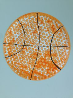Basketball made with bubble wrap for sports week